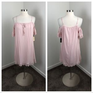 NEW Liberty Love pink lace off the shoulder dress